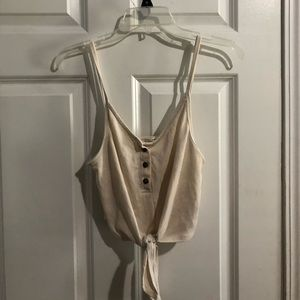 urban outfitters white button tank